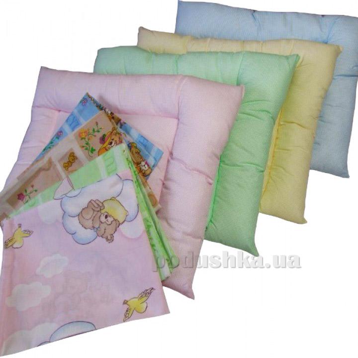 Детская антиаллергенная подушка Билана Холлофил с наволочкой 40х55 см  Билана