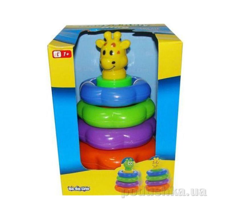 Детская игрушка-пирамидка Жираф BeBeLino