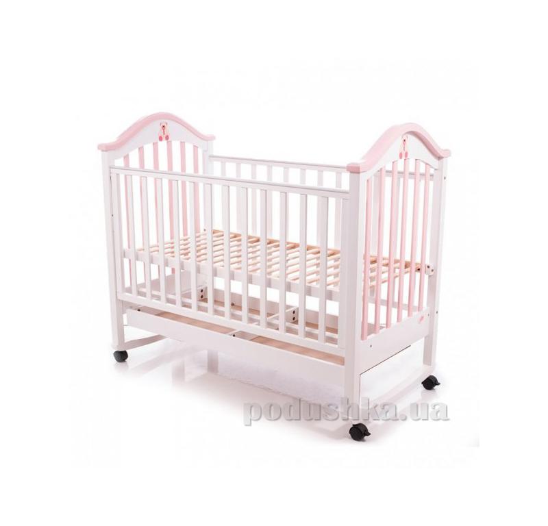 Детская кроватка Babycare BC-440M Ламель Бело-розовый 15815