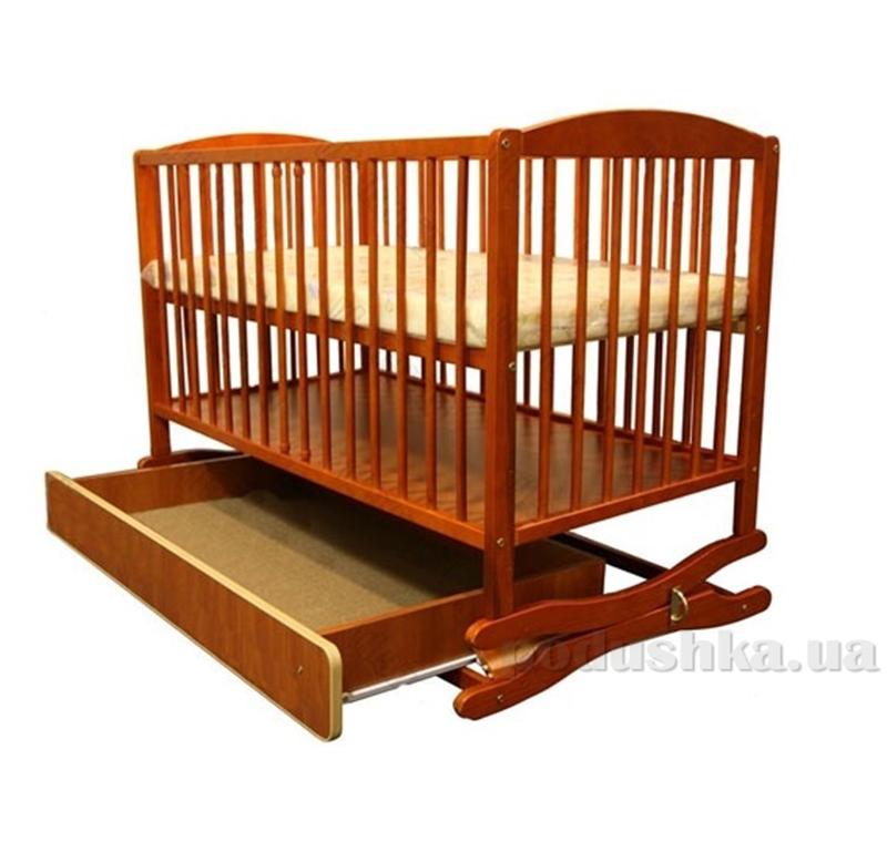 Детская кроватка Klups Radek II (с ящиком) Тик