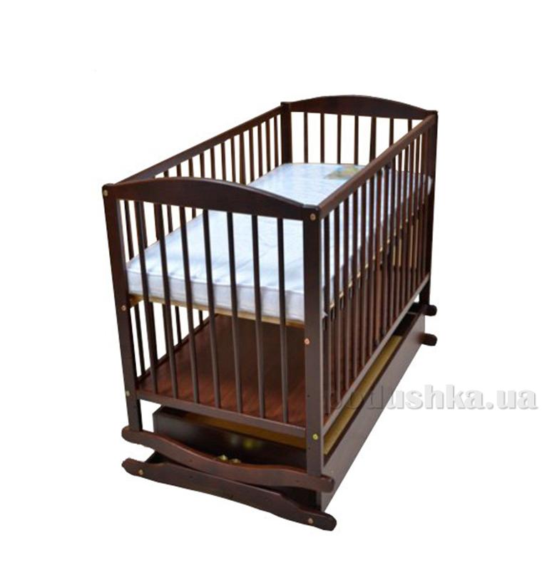 Детская кроватка Klups Radek (с ящиком) Орех