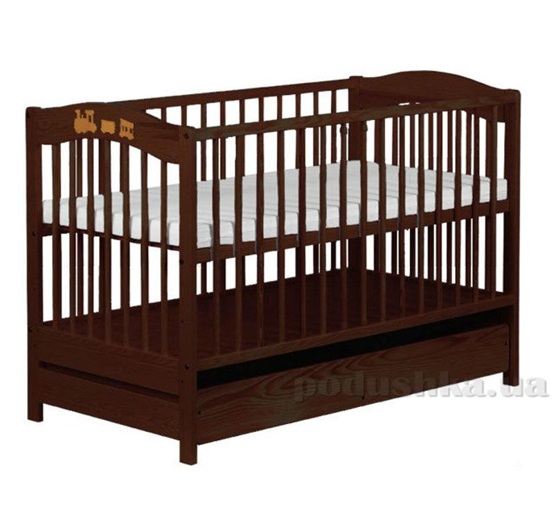 Детская кроватка Klups Radek V (с ящиком) Орех
