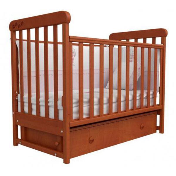 Детская кроватка Соня ЛД-12 полка, маятник 12.2.02 ольха лапки