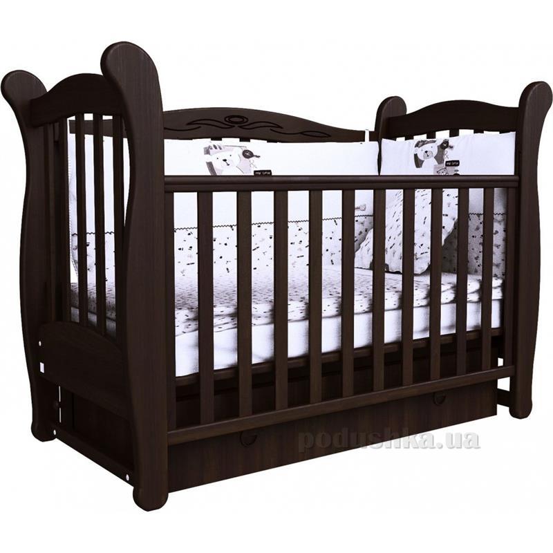 Детская кроватка Соня ЛД-15 полка, маятник 15.03 орех