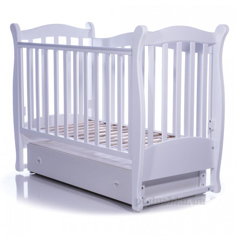 Детская кроватка Соня ЛД-15 полка, маятник 15.06 белая