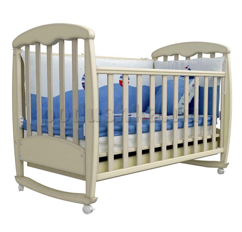 Детская кроватка Соня ЛД1 Верес патина дуб молочный