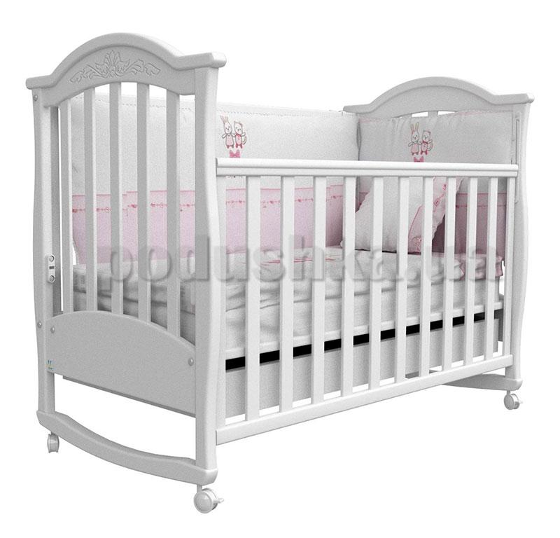 Детская кроватка Верес Соня ЛД3 белая с резьбой