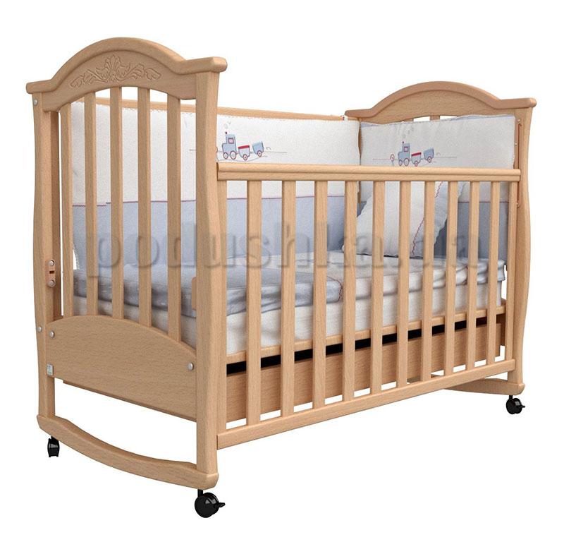 Детская кроватка Верес Соня ЛД3 бук с резьбой
