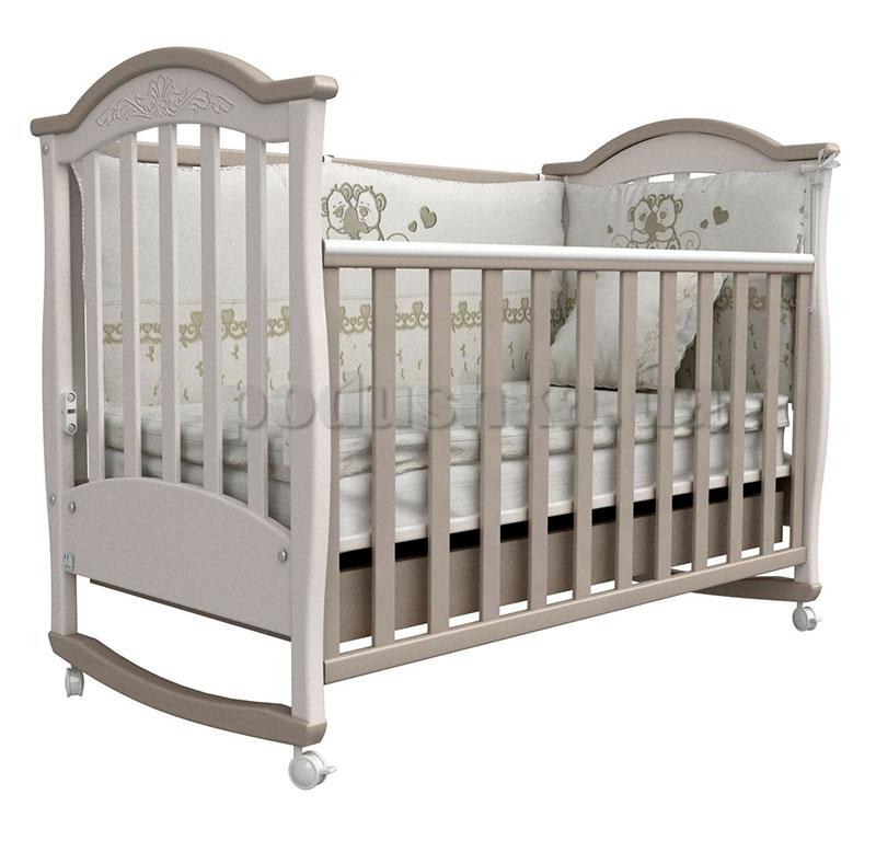 Детская кроватка Верес Соня ЛД3 капучино с резьбой