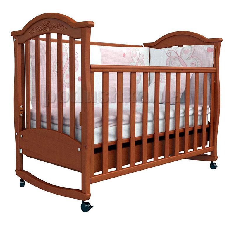 Детская кроватка Верес Соня ЛД3 ольха с резьбой