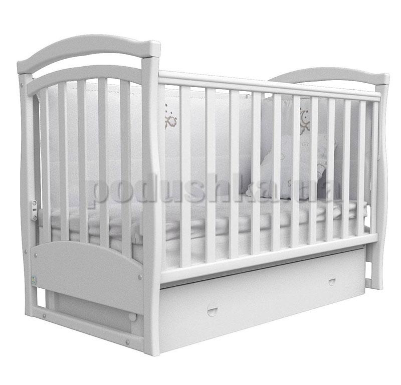 Детская кроватка Верес Соня ЛД6 белая маятник+ящик