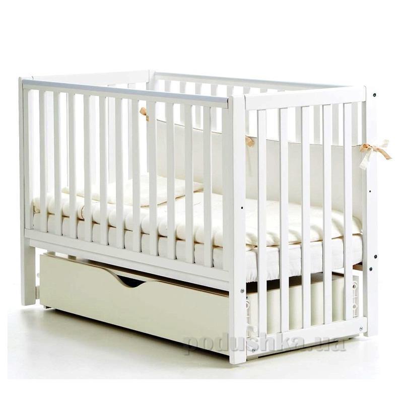 Детская кроватка Соня ЛД 13 полка, маятник д спица 13.1.61.1.06 белая