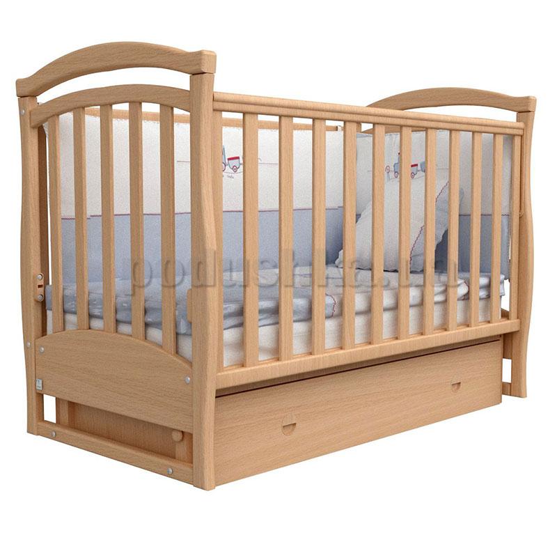 Детская кроватка Верес Соня ЛД6 бук маятник+ящик
