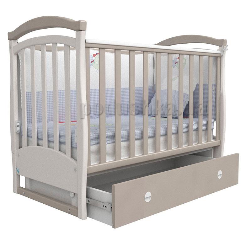 Детская кроватка Верес Соня ЛД6 капучино маятник+ящик