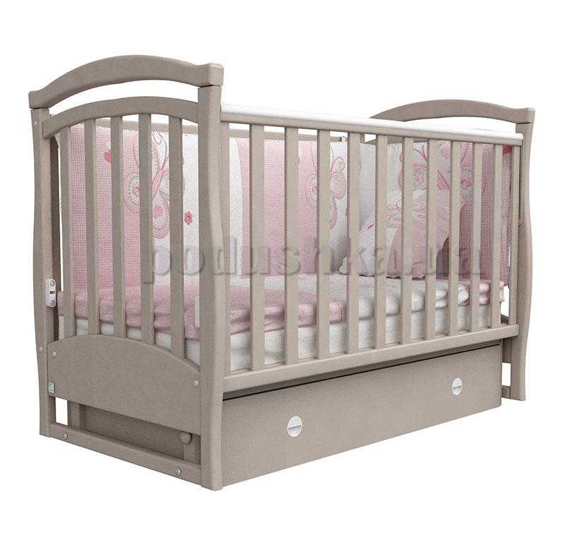 Детская кроватка Верес Соня ЛД6 капучино темное маятник+ящик