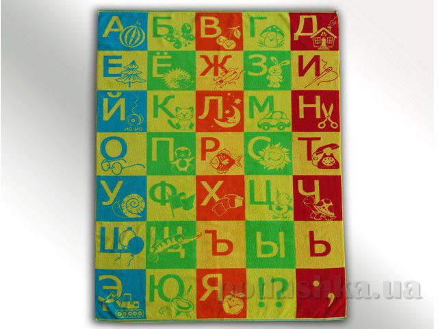 Детская махровая простынь Речицкий Текстиль Алфавит   Речицкий текстиль