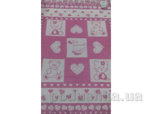 Детская махровая простынь Речицкий Текстиль Малышам розовая   Речицкий текстиль