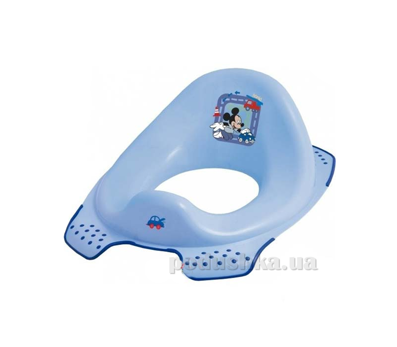 Детская накладка на унитаз Мышонок голубая Prima Baby