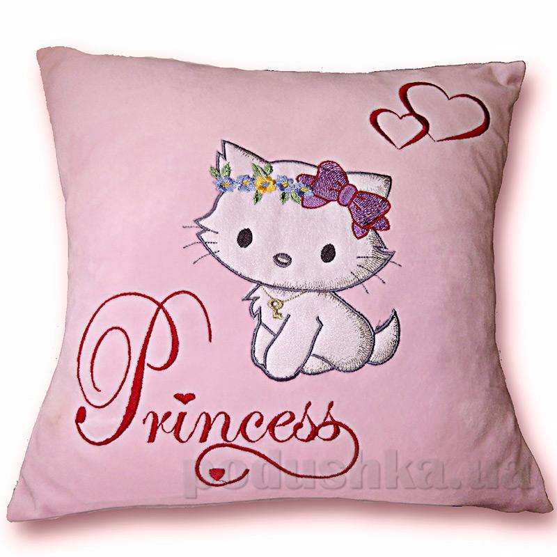 Детская подушка с вышивкой Украина ДП04-Prinsess 36x36 см  Украина