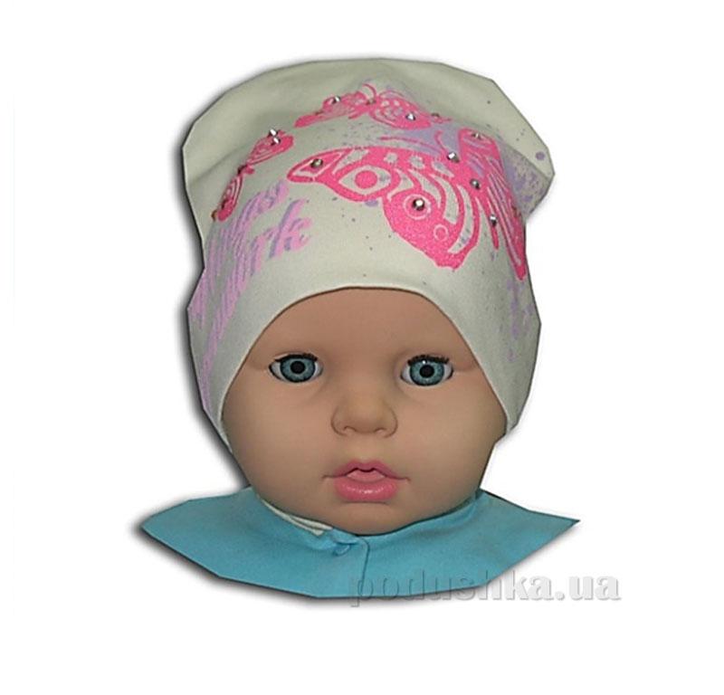 Детская шапочка для девочки Бабочки Габби 00665
