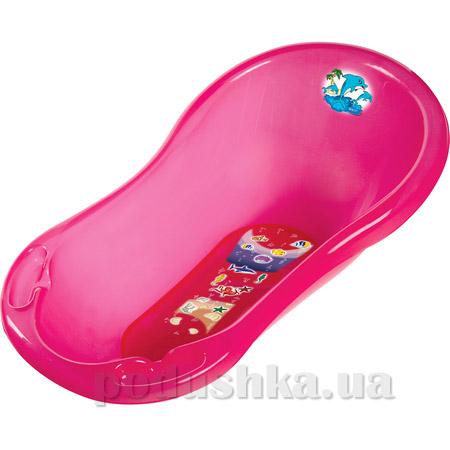 Детская ванночка Prima baby Дельфин 100 см розовая