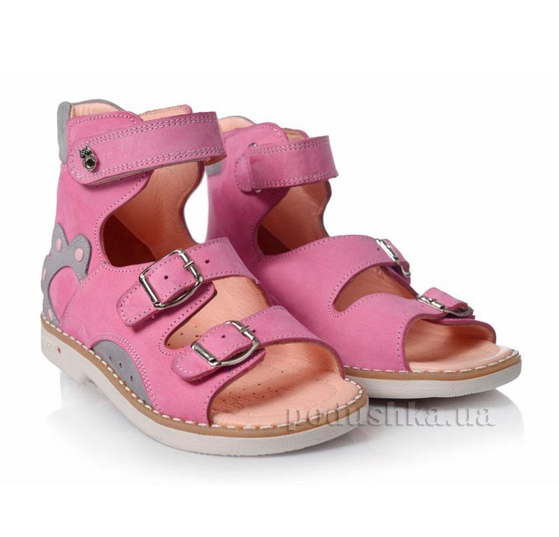 Детские босоножки Theoleo 110 розово-серые