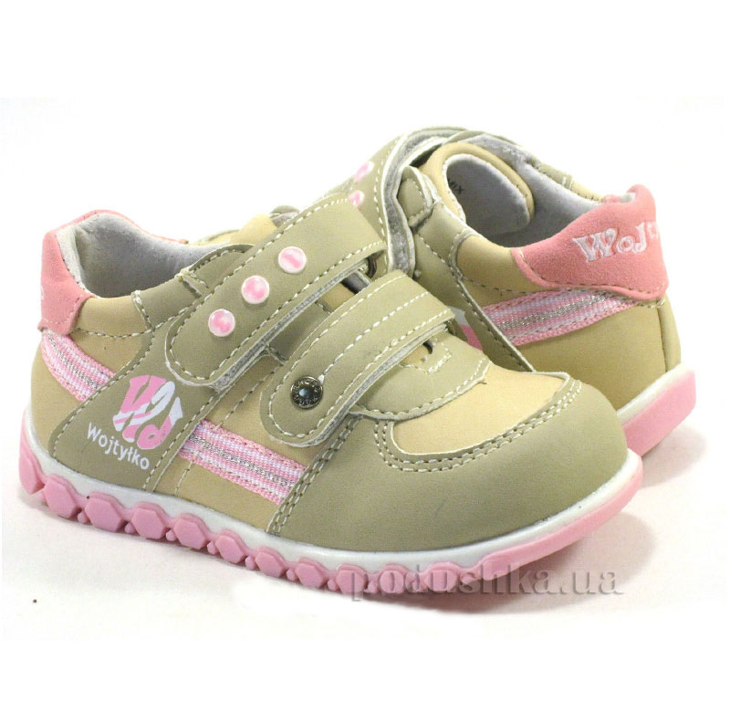 Детские ботинки Wojtylko 2А1076 бежевые