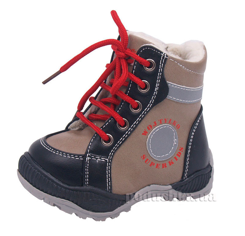 Детские ботинки Wojtylko 2Z1015 бежевые