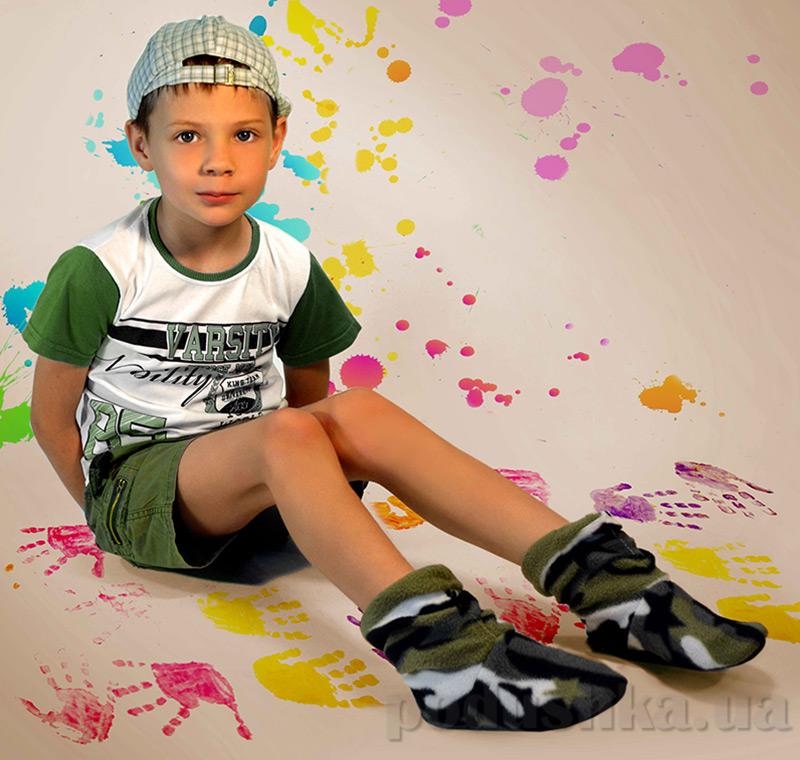 Детские домашние тапочки Slivki Military