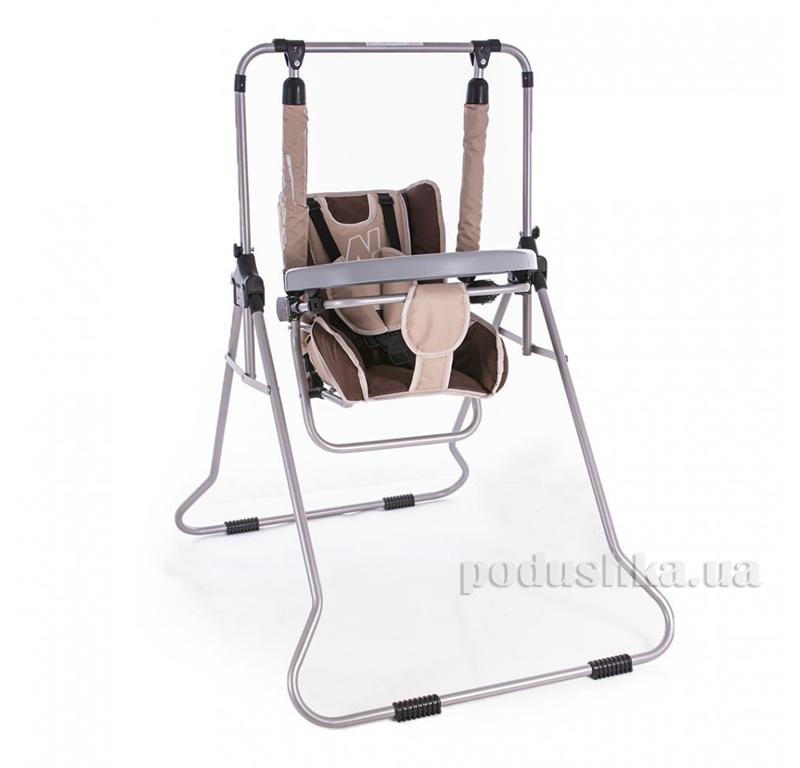 Детские качели Adbor N1 3-в-1 со столиком бежевый