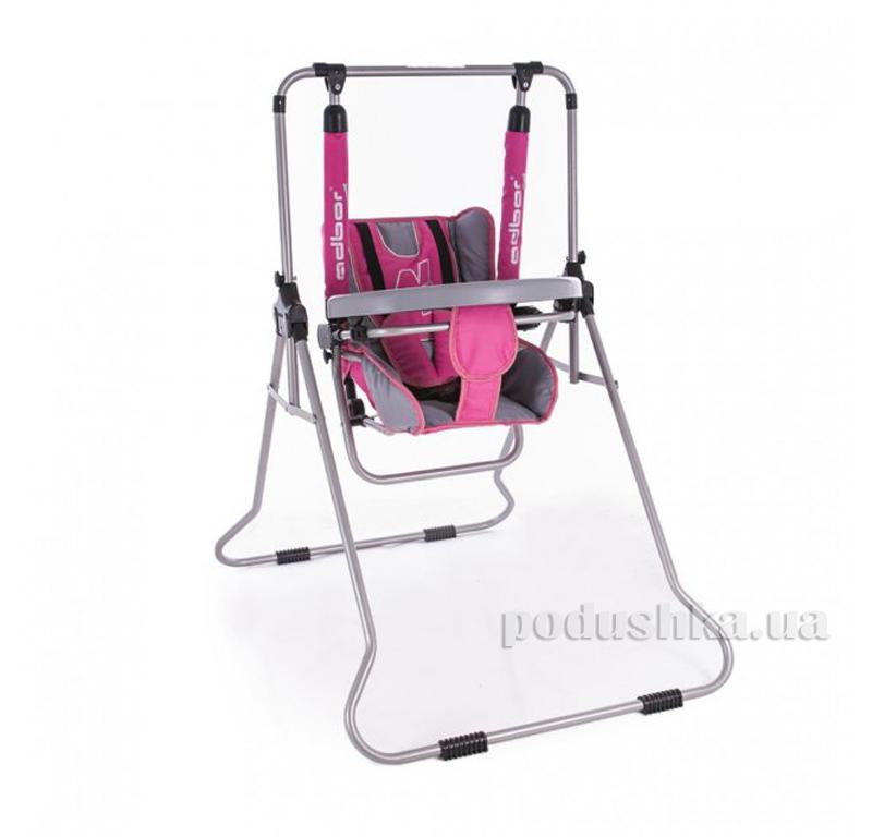 Детские качели Adbor N1 3-в-1 со столиком Розовый
