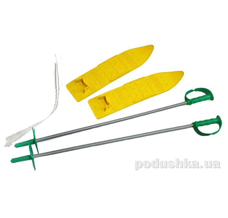 Детские лыжи с палками Marmat в ассортименте SKI-31-98 желтые