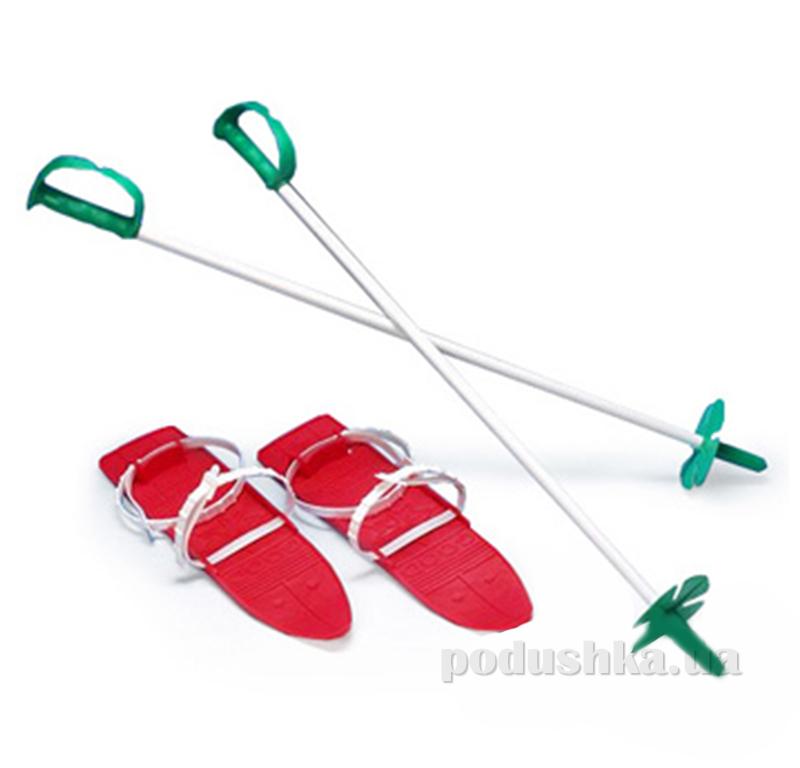 Детские лыжи с палками Marmat в ассортименте SKI-40-65 красные
