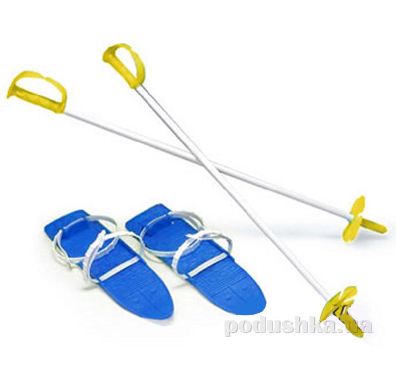Детские лыжи с палками Marmat в ассортименте SKI-77-04 синие