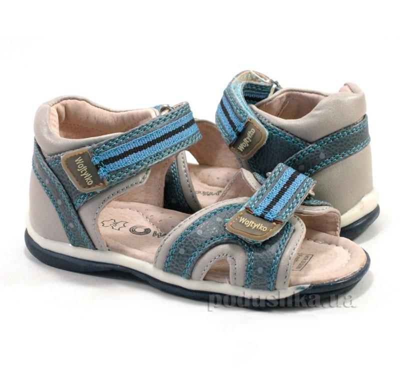 Детские сандалии Wojtylko 1S1362 голубые