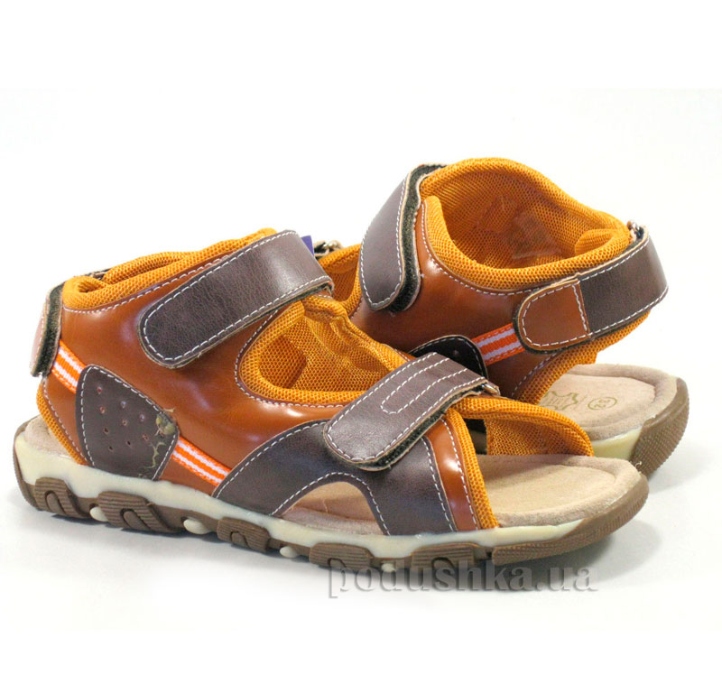Детские сандалии Wojtylko 5A60207-003 оранжевые