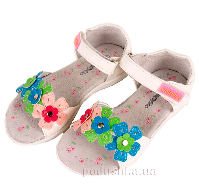 Детские сандалии Wojtylko 5S3311 белые