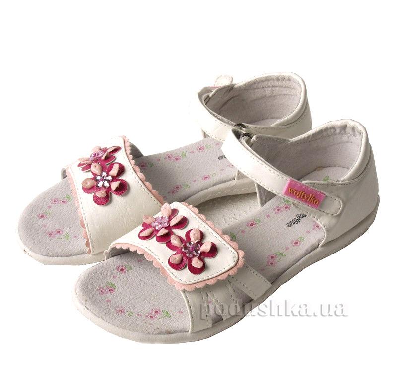 Детские сандалии Wojtylko 5S3312 белые