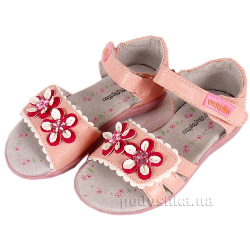 Детские сандалии Wojtylko 5S3312 розовые