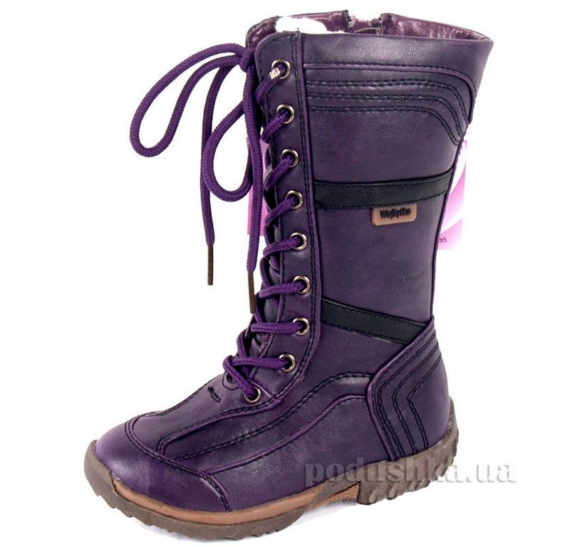 Детские сапожки Wojtylko 2Z1617 фиолетовые
