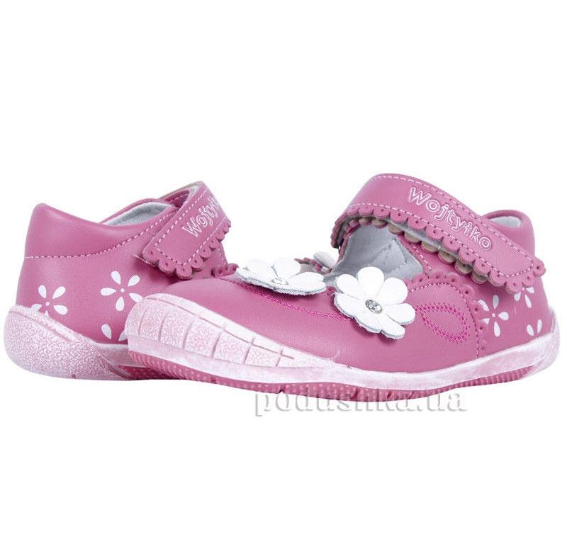 Детские туфли Wojtylko1BA11194 розовые