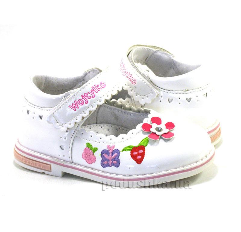 Детские туфли Wojtylko 2BA11204 белые