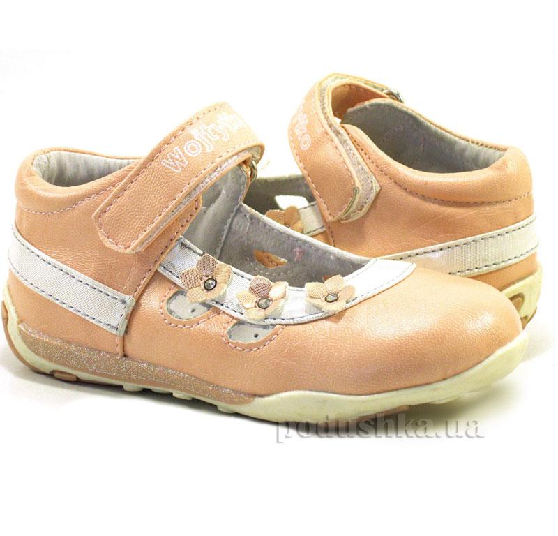 Детские туфли Wojtylko 2BA1312 розовые