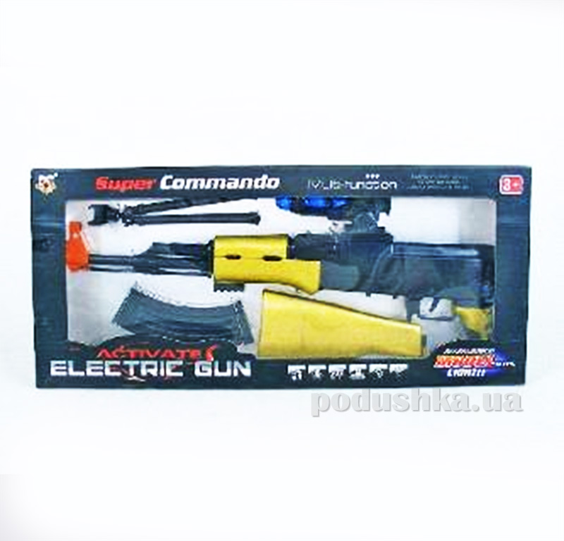 Детский автомат со звуком и светом Super Gun 384767WGB