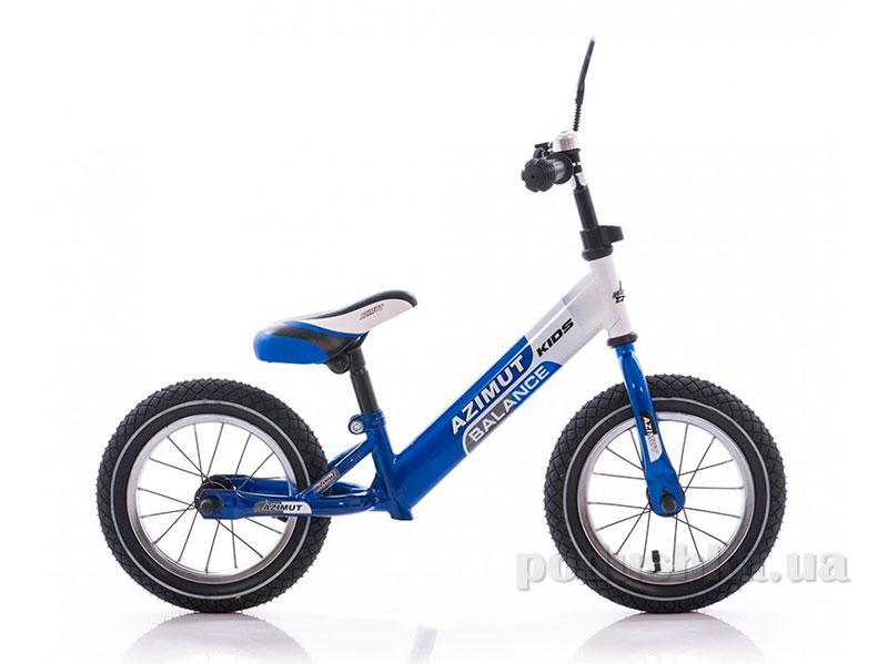 Детский беспедальный велосипед Azimut Balance Bike Air 12  графит-салатовый Azimut