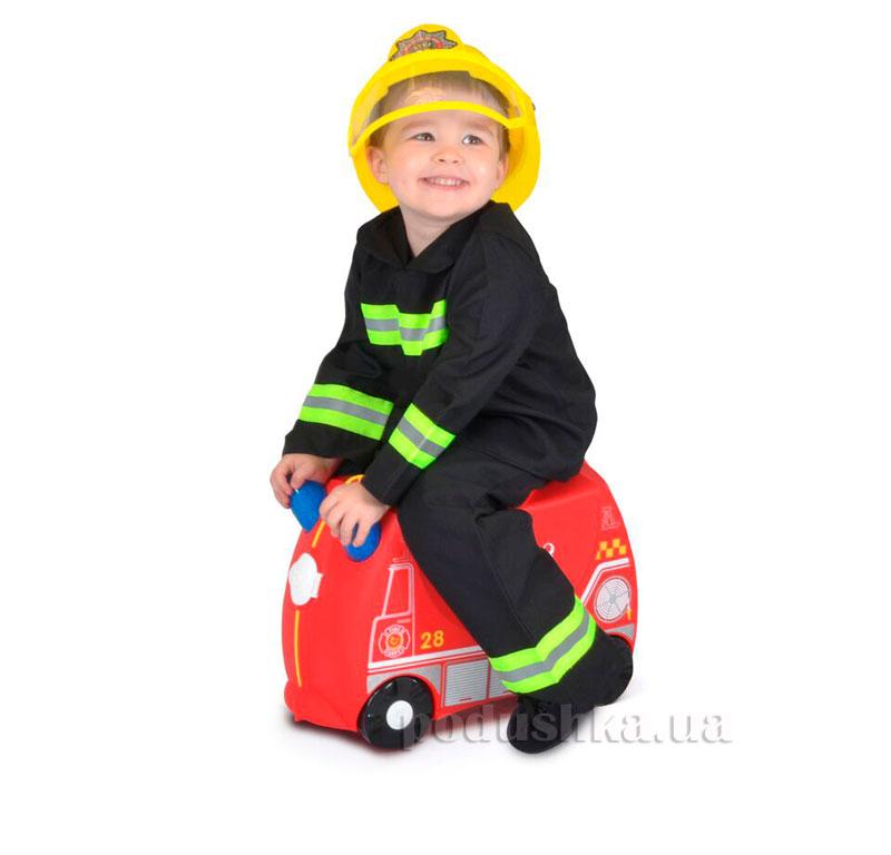 Детский дорожный чемоданчик Trunki Frank Fire Truck
