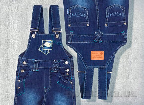 Детский джинсовый полукомбинезон Бемби ПК88