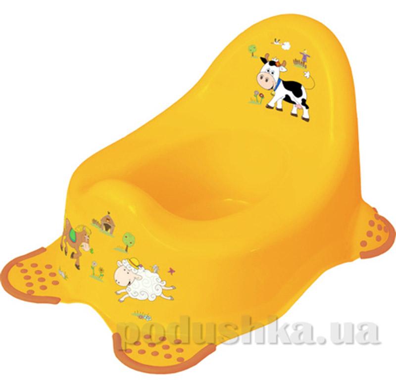 Детский горшок Funny Farm Prima-baby желтый
