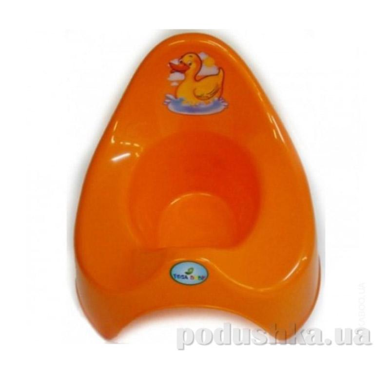 Детский горшок Утенок comfort Prima-baby оранжевый