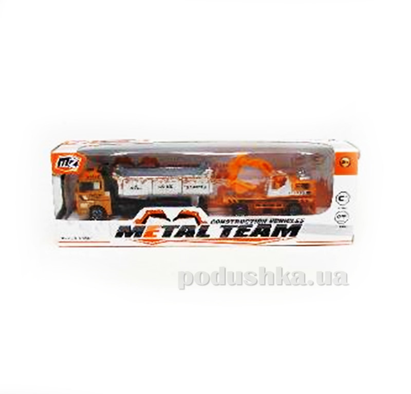 Детский грузовик с прицепом Die-Cast 480966TP Metal Team